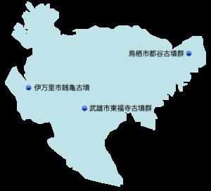 佐賀県の主な玉出土遺跡位置