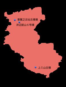 和歌山県の主な玉出土遺跡位置